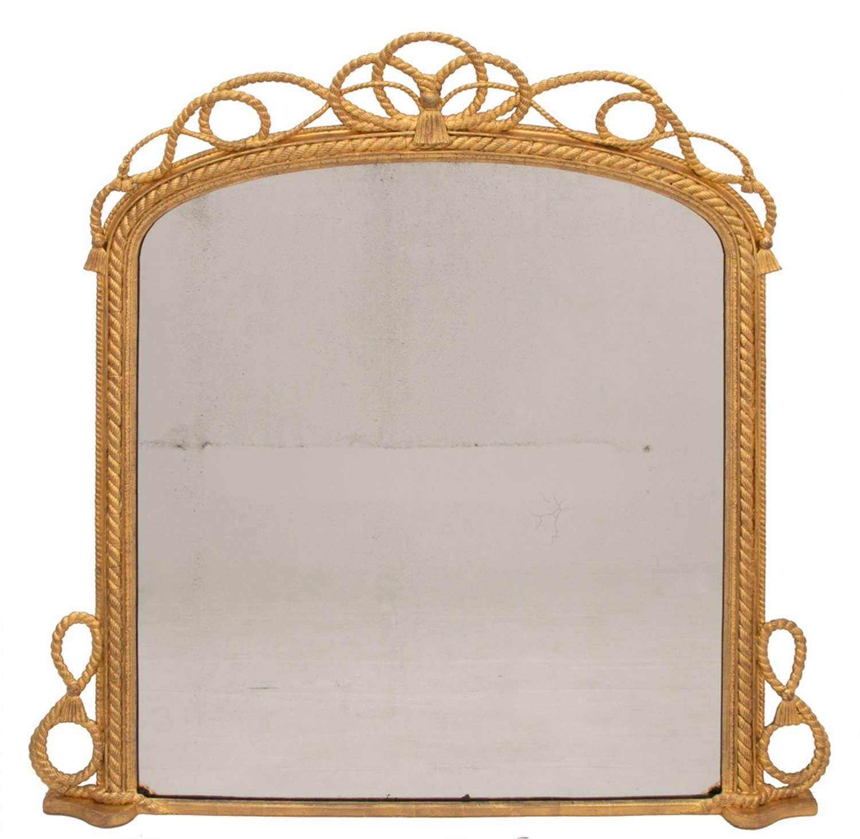 Antique Maritime Gilded Mirror c.1840