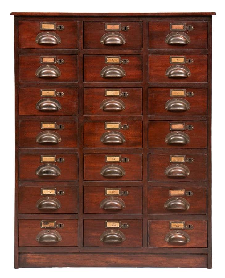 Victorian Mahogany Bank of Drawers