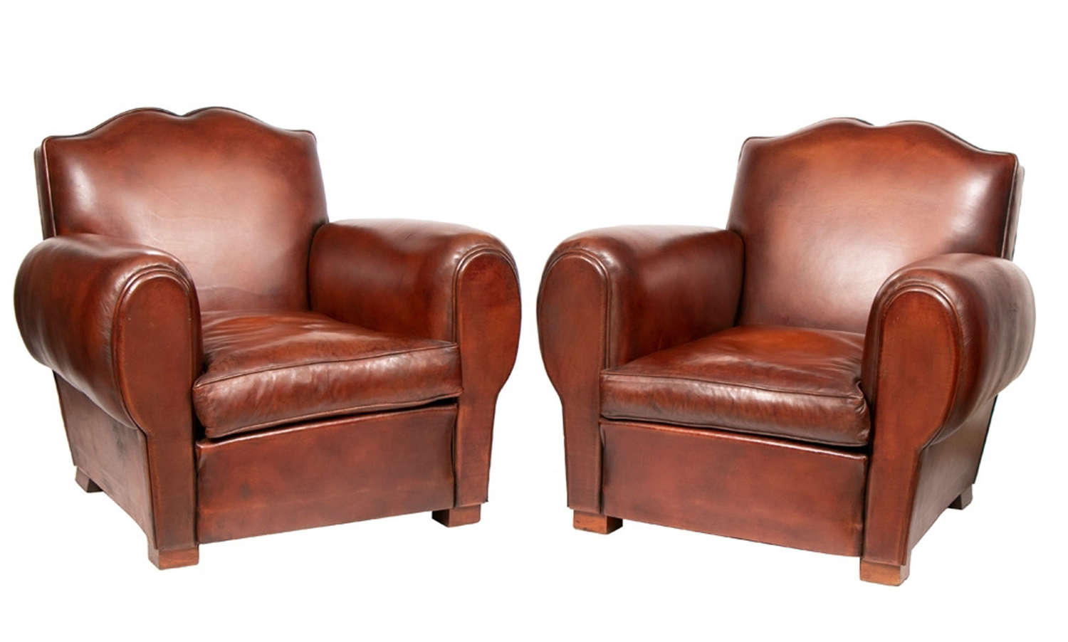 Pair of Moustache Club Chairs c.1930s