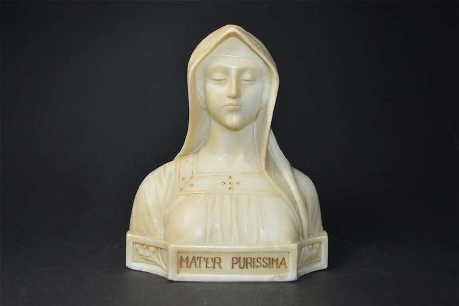 A beautiful antique bust of Mary
