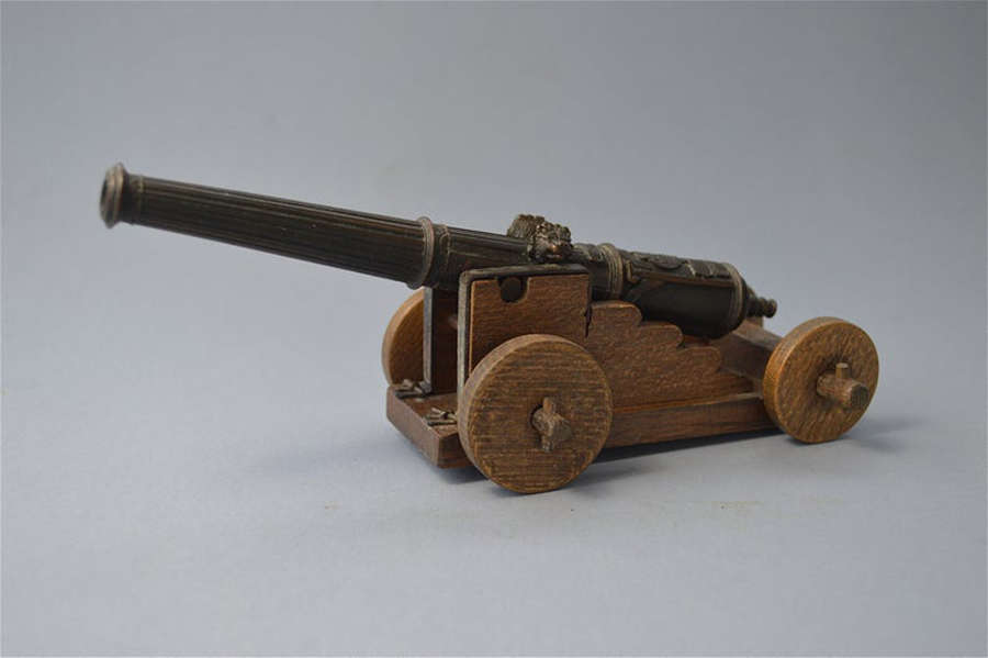 A superb miniature military cannon