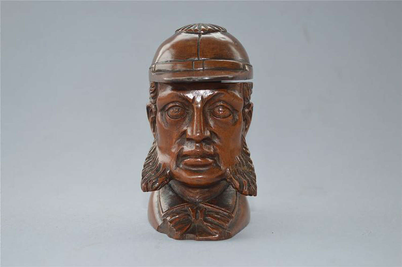 Antique Victorian cricket sculpture inkwell