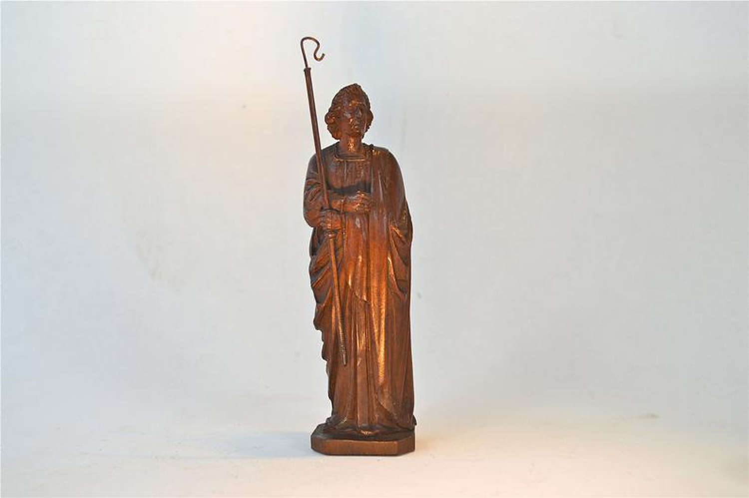 Antique carved wood figure of Saint John