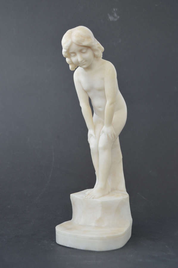 Antique sculpture of a young girl