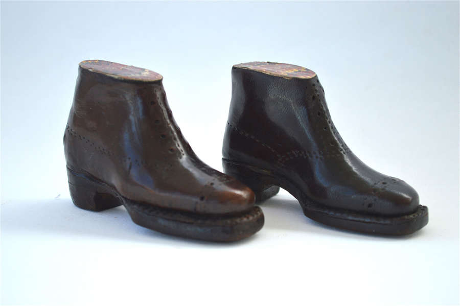Pair of hand made antique boots.