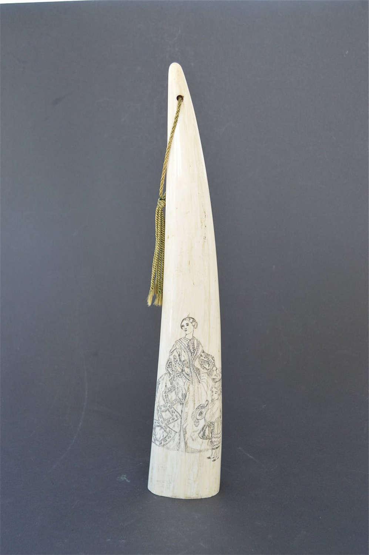 Antique sailor folk art scrimshaw