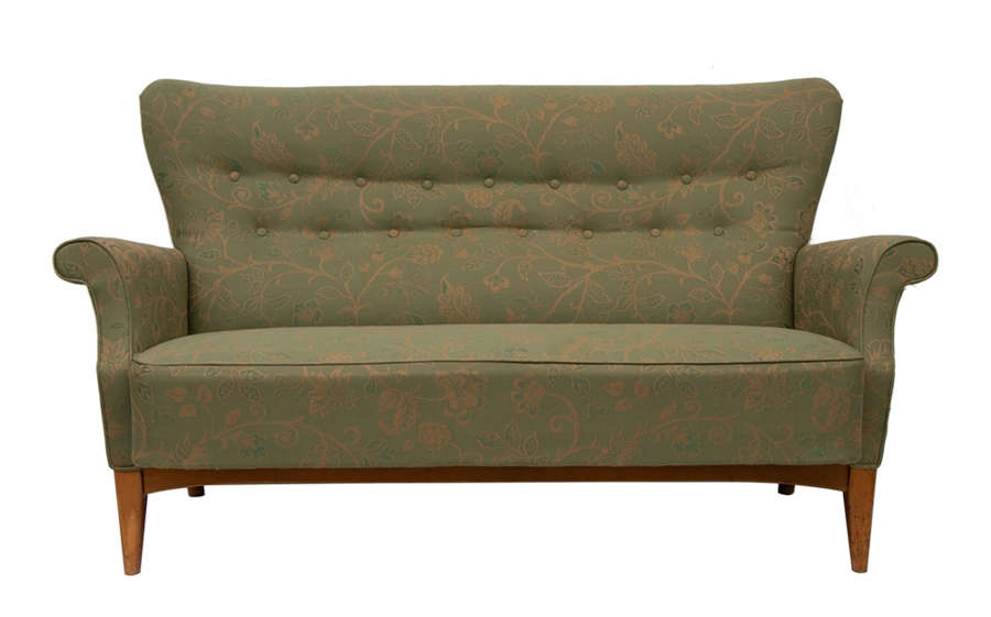 Danish Midcentury Buttoned Back Sofa c.1965