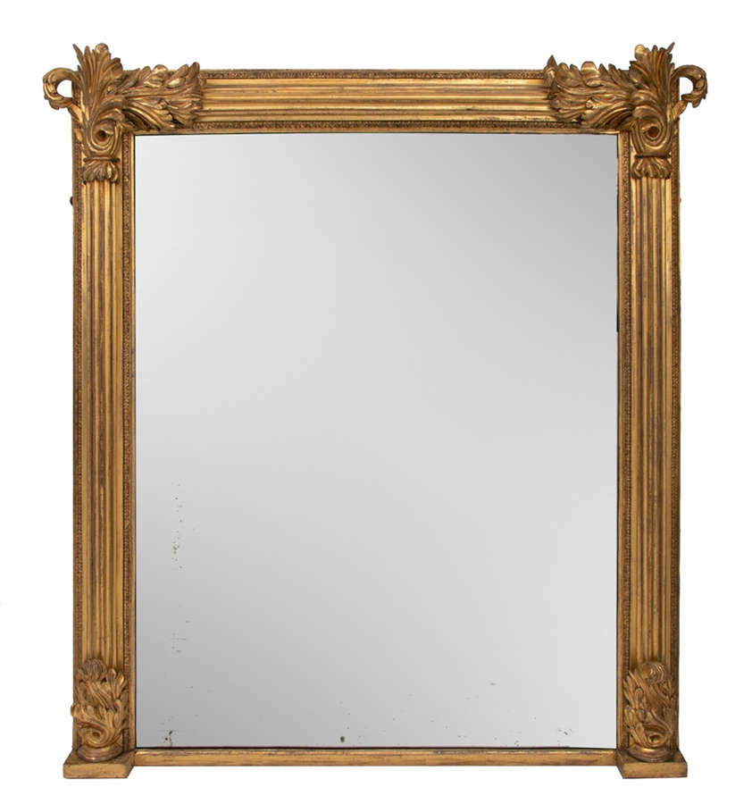 Antique Gilded Overmantel Mirror c.1820
