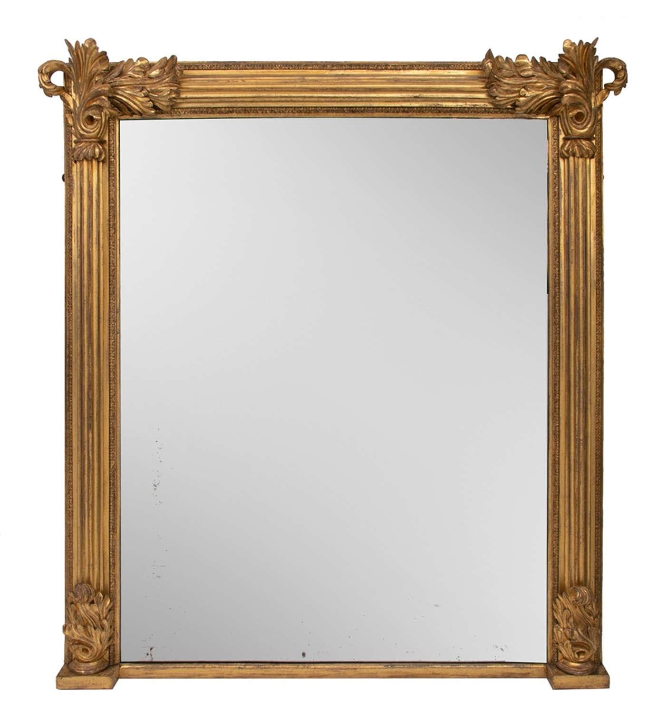 Antique Gilded Overmantel Mirror c.1820
