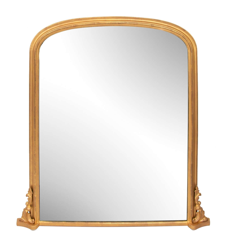 Antique Gilded Overmantel Mirror c.1890