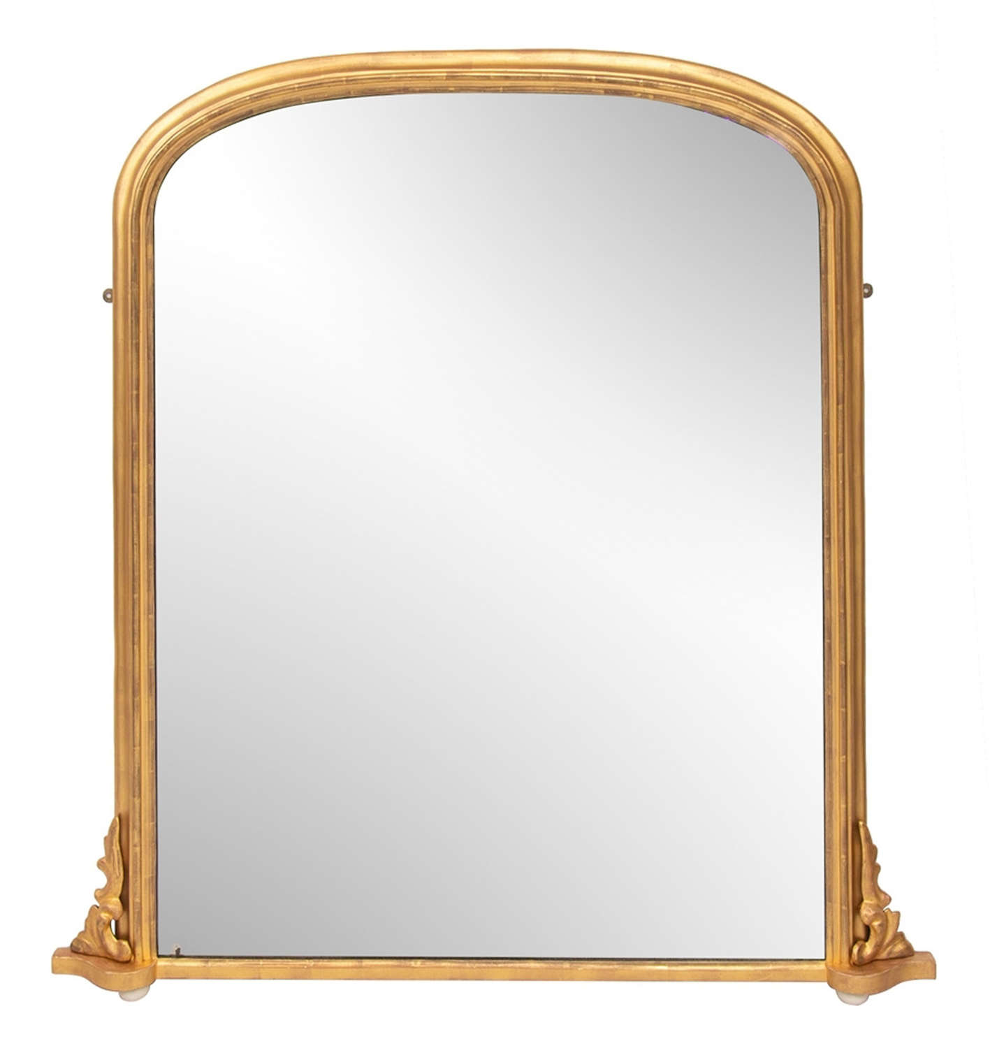 Antique Gilded Overmantel Mirror c.1870