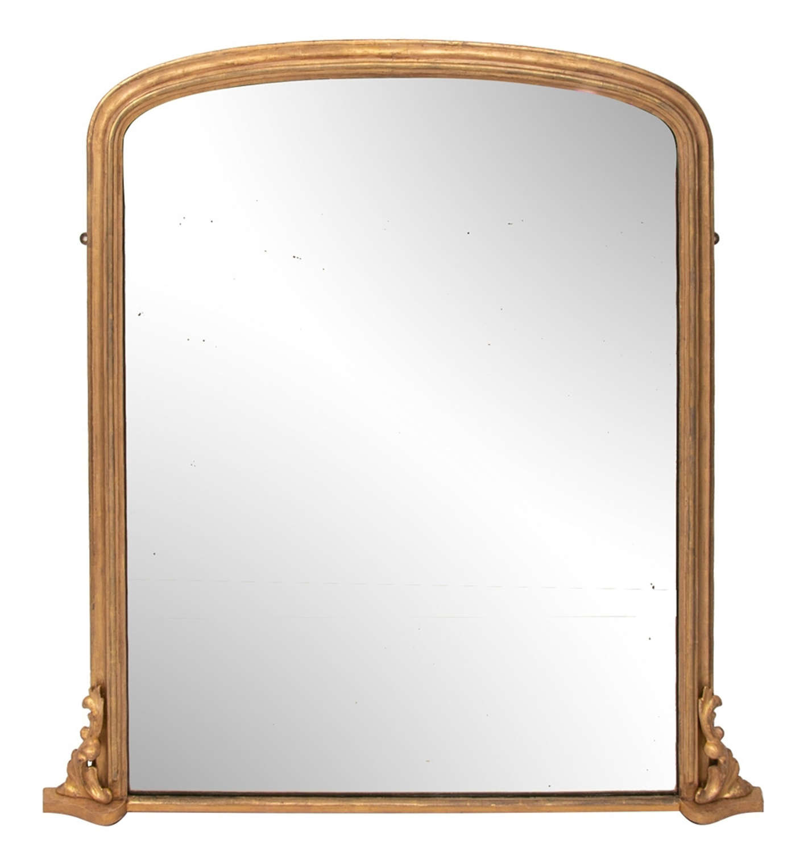 Antique Gilded Overmantel Mirror c.1895