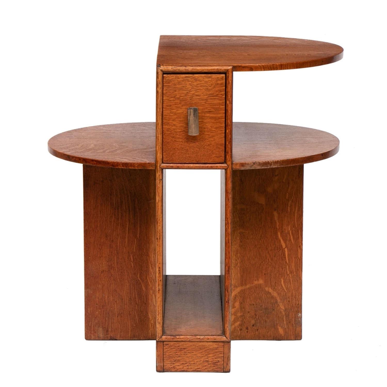 Art Deco Oak Side Table c.1930