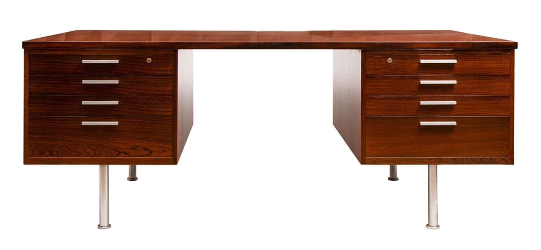 Danish Midcentury Rosewood Executive Desk c.1965