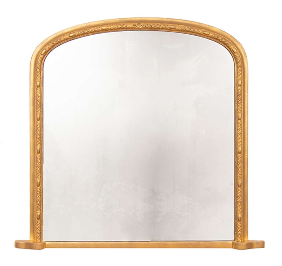 Antique Giltwood Overmantle Mirror c.1875