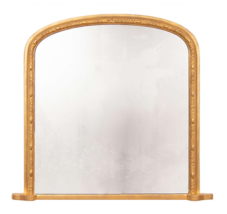 Antique Giltwood Overmantle Mirror c.1875