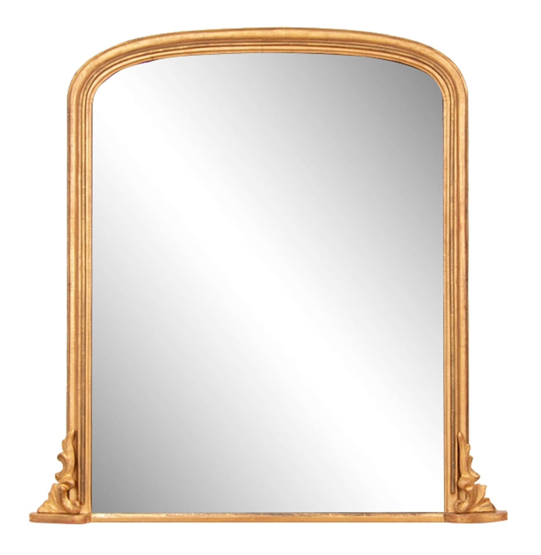 Antique Giltwood Overmantle Mirror c.1880