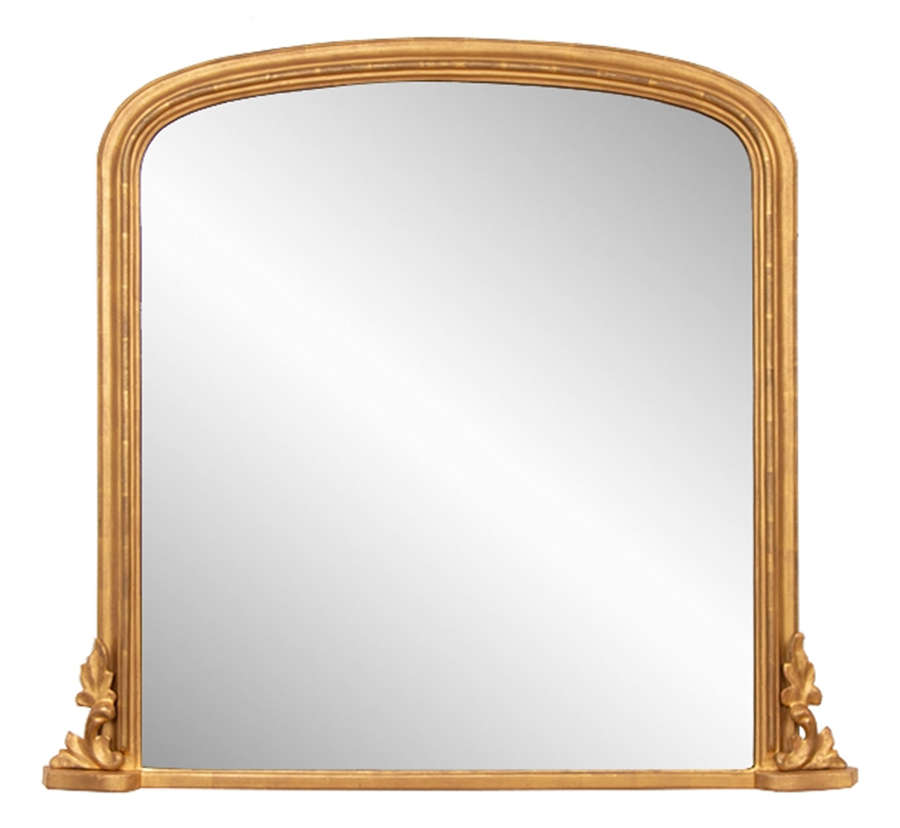 Antique Giltwood Overmantle Mirror c.1870