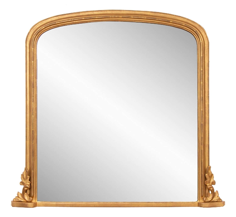 Antique Giltwood Overmantle Mirror c.1870