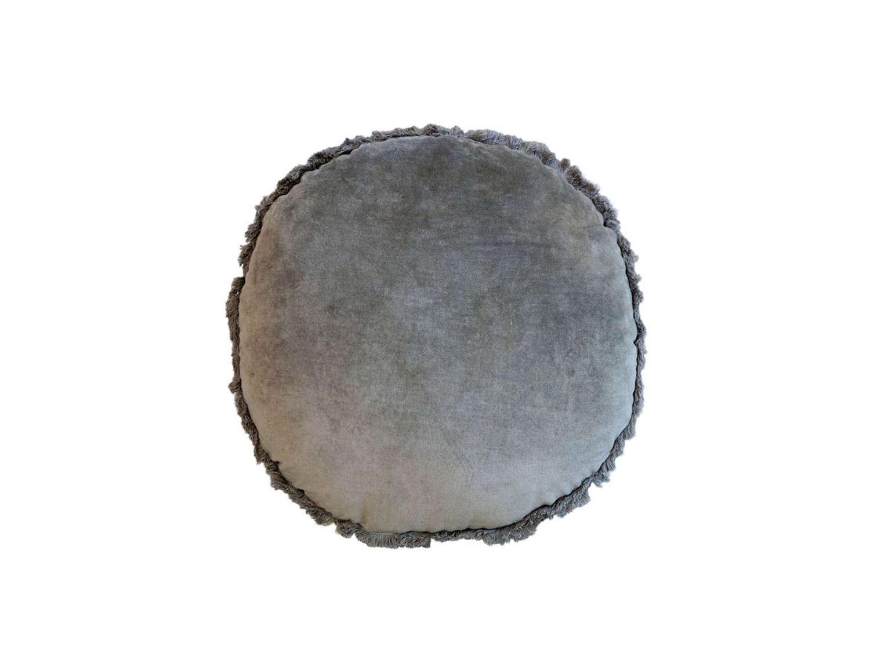 Round Velvet Cusion - Moss