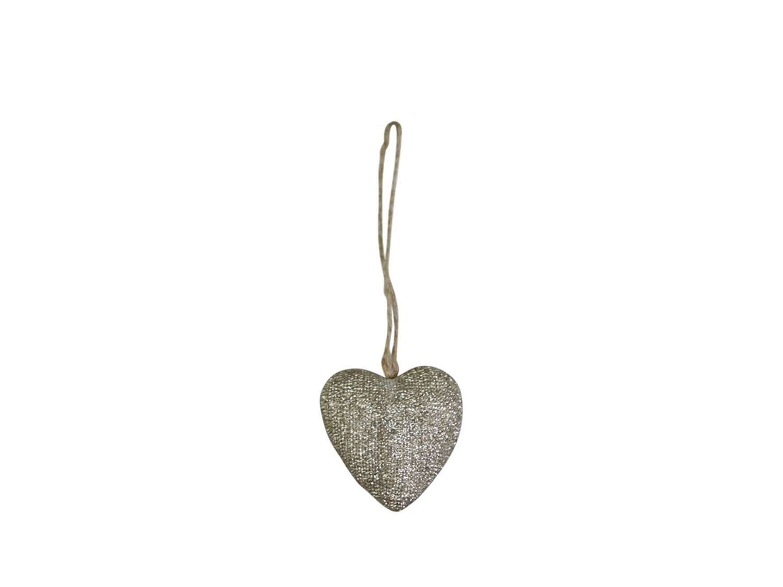 Glitter Heart Tree Decoration