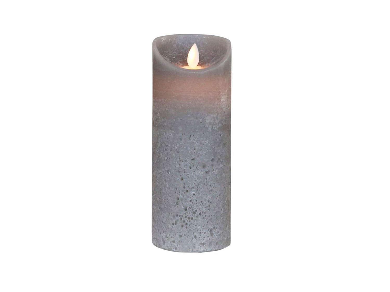 Large Grey LED Church Candle