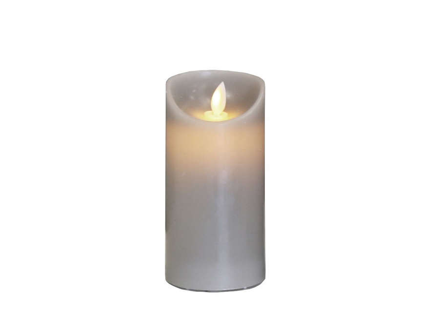 Small Grey LED Church Candle