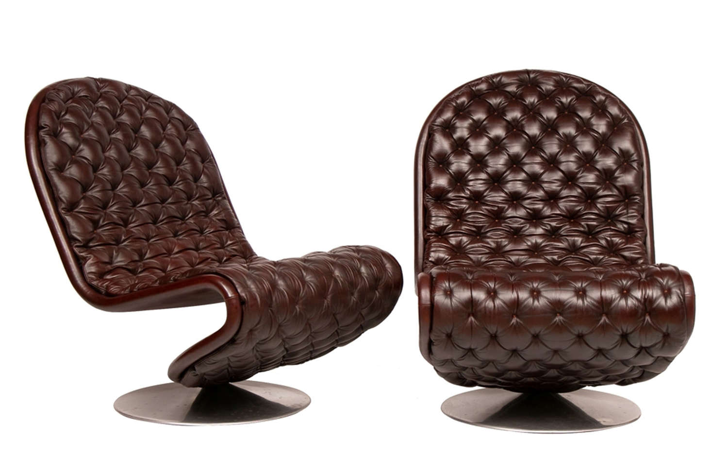 Model E Lounge Chairs by Verner Panton for Fritz Hansen