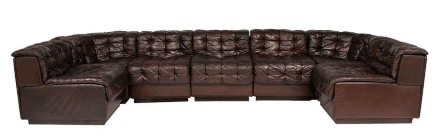 Model DS-11 Seven Piece Sofa Set by De Sede, Switzerland
