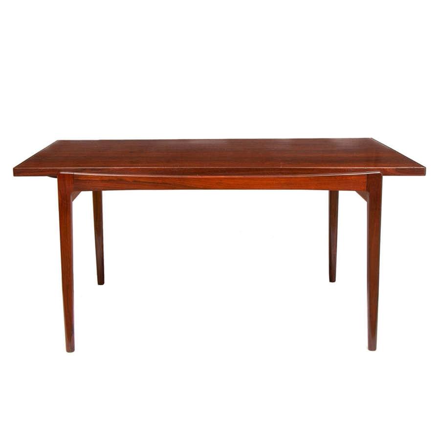 Midcentury Danish Rosewood Extending Table by IB Kofod Larsen