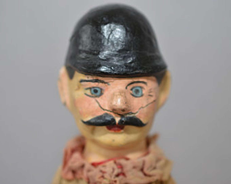 Antique Gendarme glove puppet
