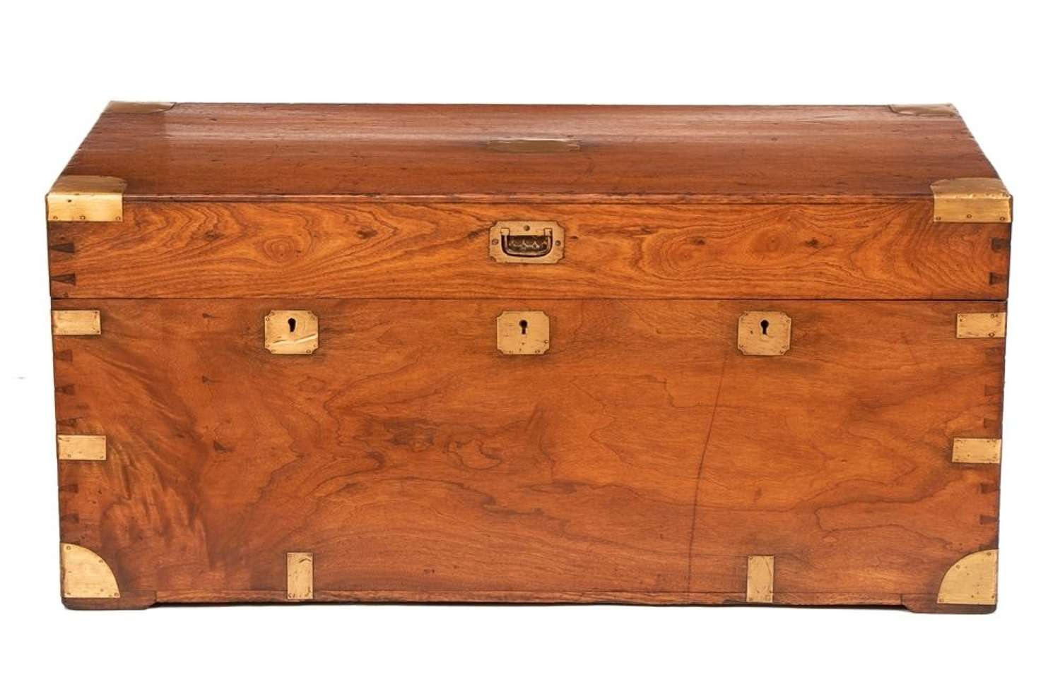 19th Century Camphorwood Military Campaign Chest