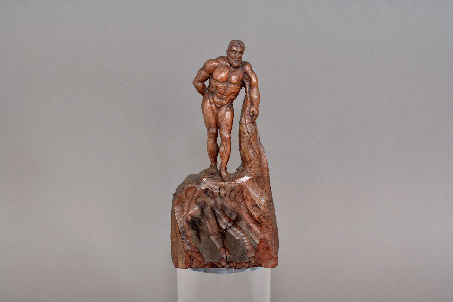 Hand carved wooden figure of Hercules circa.1900