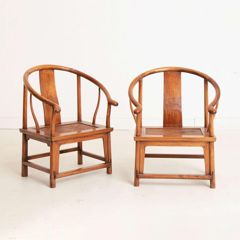 Pair of Small Chinese Chairs circa 1900-1920