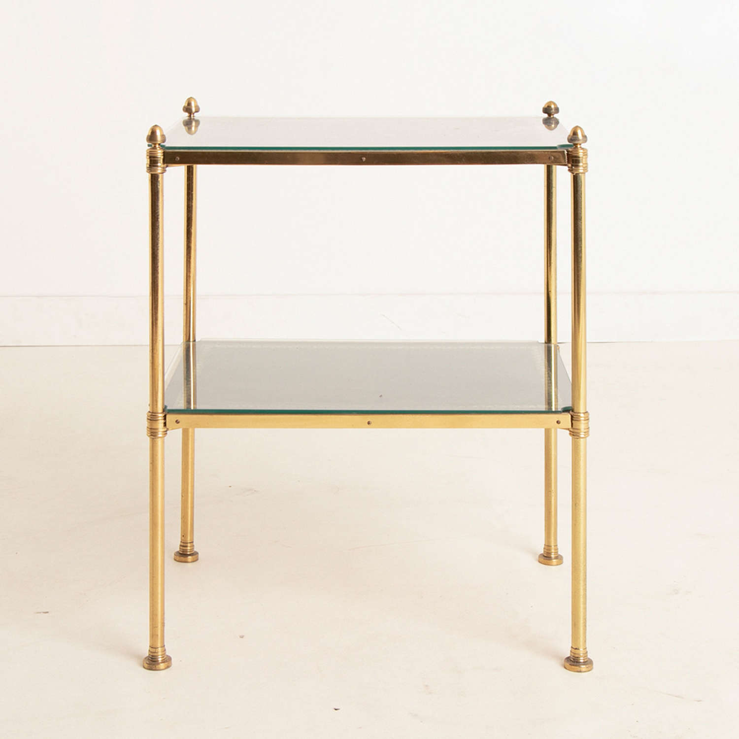 Two Tier Leather Etagere c.1900