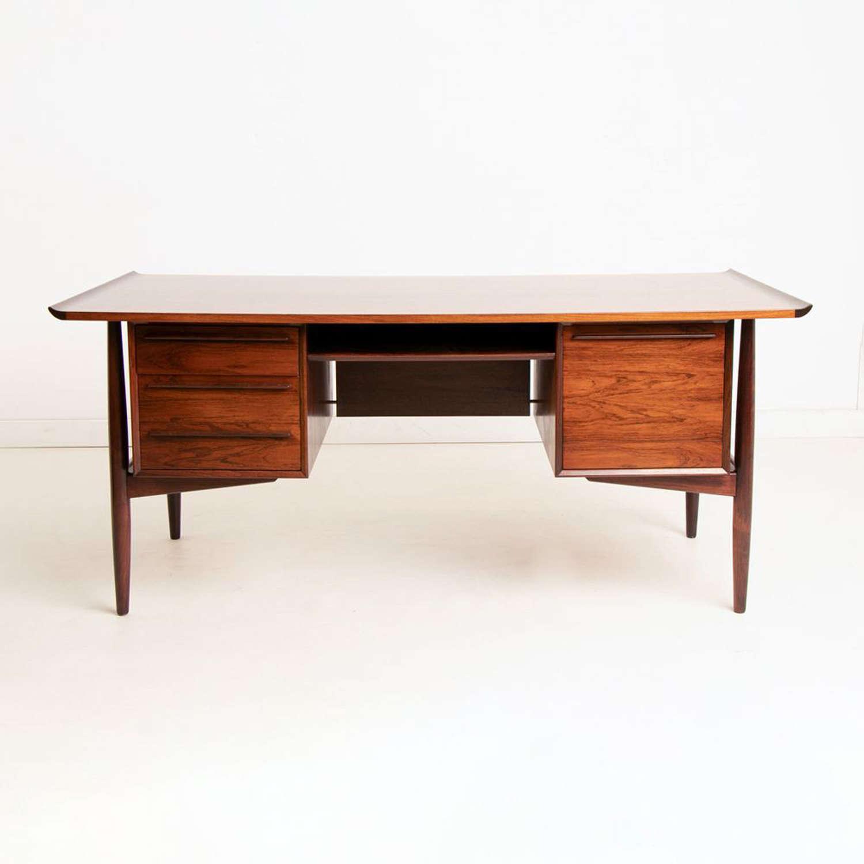 Midcentury Rosewood Desk by H.P. Hansen c.1960